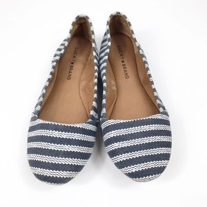 Lucky Brand | Navy and White Esmeralda Flats